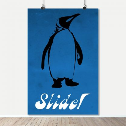 Art Print Poster - Spirit Animal - Penguin Slide - Fight Club Movie / Book Quotes - FADE Grafix