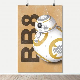 BB8 - Hand Painted Series - Movie Characters - Art Print Poster - Star Wars - FADE Grafix